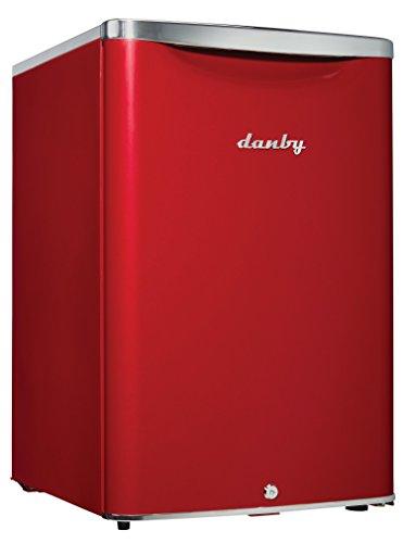 Danby DAR026A2LDB Compact Refrigerator, red