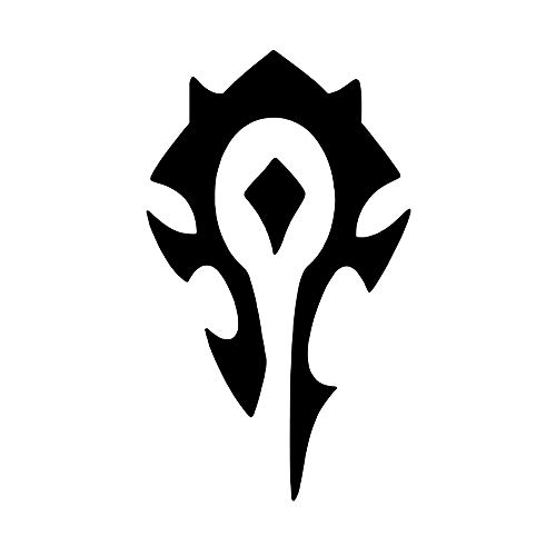 Horde [Pick Color] Wow Vinyl Transfer Sticker Decal for Laptop/Car/Truck/Window/Bumper (3in x 1.8in, Black)