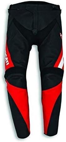 Ducati Speed EVO C1 Pantalones de Cuero Negro/Rojo - 54