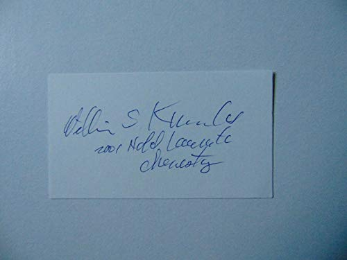 """""""Nobel Prize in Chemistry"""" William Knowles Hand Signed 2X3.5 Card JG Autographs from Unknown"""