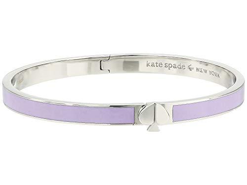 (Kate Spade New York Women's Heritage Spade Thin Enamel Bangle Bracelet, Frozenila, Purple, Silver, One Size)