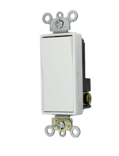 Rocker Combo Single (Leviton 5621-2W 20-Amp 120/277-Volt Decora Plus Rocker Single-Pole AC Quiet Switch, White)