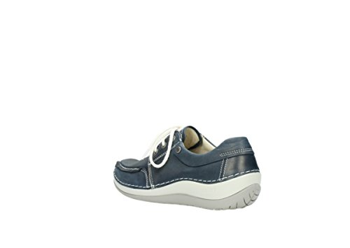 Jewel Blue Leather 80870 Comfort Wolky Bqtp5vzwwx