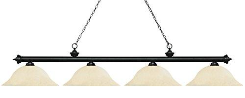 (Billiard Light with Golden Mottle Glass Shade)