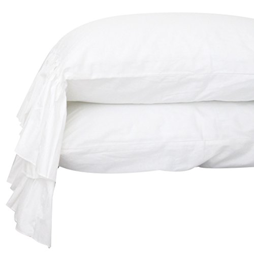 (Queen's House White Pillowcases Queen Size Set of 2-Style G)