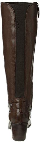 Geox D Lucinda - Botas de cuero mujer marrón - Marron (Ebony)