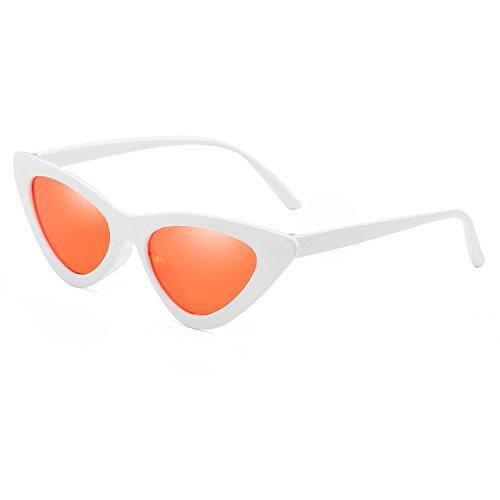 White Women Glasses Frame Reb Green Size Cat Frame Eyewear Triangle Blue Fashion UV400 Sunglasses New Lens Eye Sun Red Small UExZwqETW
