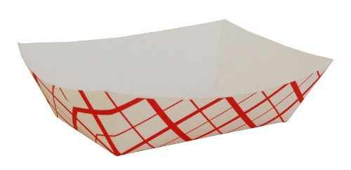 Southern Champion Tray 0425 #300 Southland Paperboard Food Tray, 3 lb Capacity, Red Check (Case of (Champion Line)