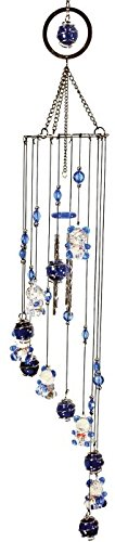 Cheap 33 Inch Teddy Bear Design Acrylic Circle Top Mobile with Wind Chimes