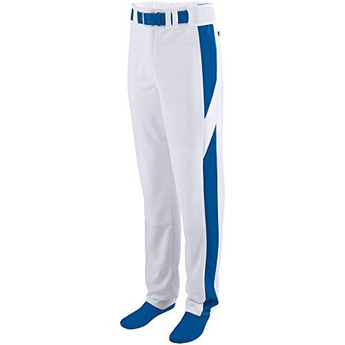 (Augusta Sportswear Men's Series Color Block Baseball Pant 2XL White/Royal)