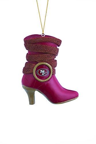 NFL San Francisco 49ers bota adorno, pequeño, multicolor