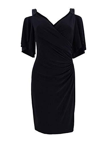 (Lauren Ralph Lauren Women's Cutout-Shoulder Jersey Dress (Black, 6))
