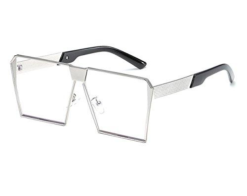 F Moda C Europa Caja Sol Retro Grande Espejo Gafas De Metal De Tendencia Viaje Playa Conducción Gafas Sol De 8SxYUw