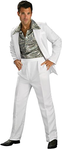 [Rubie's Costume Co. Men's Disco King Costume, As Shown, Standard] (Dance Costumes For Guys)