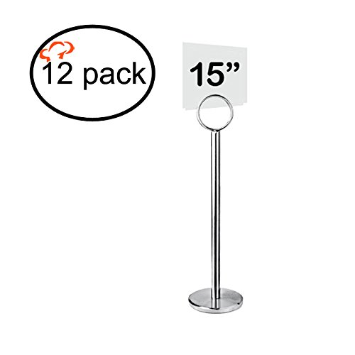 Tiger Chef Table Number Holder Table Card Holder Table Number Stand Place Card Holder Menu Holder 15'' (12, 15 Inch) by Tiger Chef