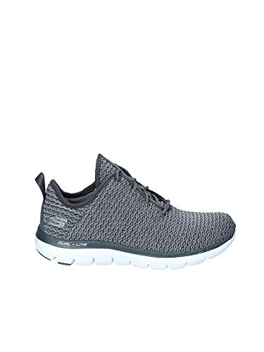 Skechers Flex Appeal 2.0 Bold Move Womens Slip On Sneakers Charcoal 10 ()