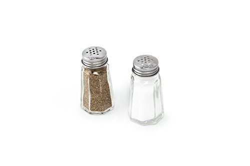 Fox Run 5608 Salt and Pepper Set, Glass and Stainless Steel, 3-Inch