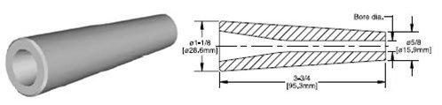 Kennametal 1213050 5/16'' C1-5 aluminum oxide ceramic sandblasting straight bore inserts
