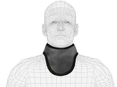 Standard Unattached Thyroid Collar, Regular Lead, 0.5mm Pb Lead Equivalency, Black