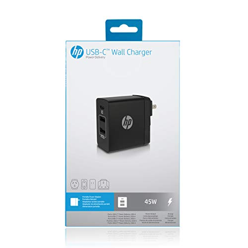 HP USB-C Power Delivery (PD) 45W Charger - ETL Certified - 2 USB-A Ports and 1 PD USB-C for Charging MacBook, ChromeBook and Other laptops by HP (Image #4)