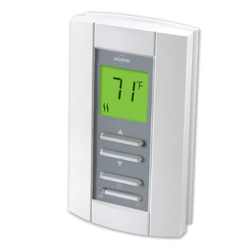 (Cadet TH114A-240D-B Electronic Non PROGRAMMABLE STAT Double Pole White)