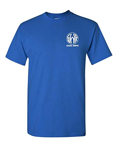 SWR Bass Amplifiers Golight Hi-Fidelity Bass Tones Black T-Shirt (3X, Blue) ()