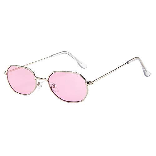 (JJLIKER Vintage Retro Thin Metal Frame Sunglasses Lightweight Fashion Goggles for Men Women (Multicolor))