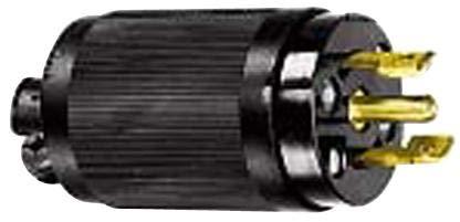 HBL7485 - Power Entry Connector, Power Entry, 15 A, Black, Nylon (Polyamide) Body, 250 V, Midget Twist-Lock (Pack of 2) ()
