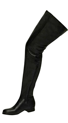 Stiefel Kunstleder Low Erogance Stivali Overknees Black Blockabsatz Donna FOE7xwq7