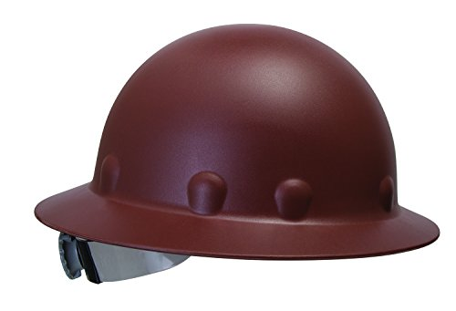 Fibre-Metal by Honeywell P1ARW12A000 Roughneck Full Brim Hard Hat with Strip-Proof and Crack-Proof Ratchet Headgear, Brown
