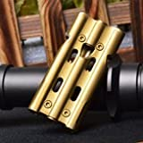 Big Thermionic Double Tube Whistle Camping & Hiking Tool - Outdoor Tube 150db Whistle Survival Stainless Steel Apito Sounder Clip - Forked Duplicate Vacuum Duple Subway Sing Twofold - 1PCs