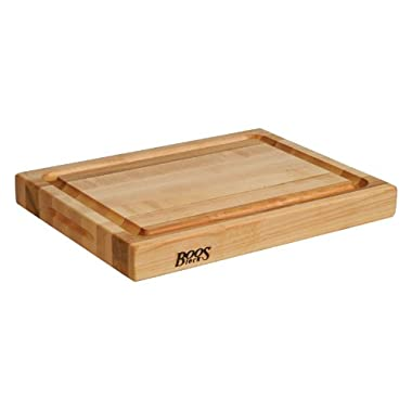 John Boos RA02-GRV Maple Wood Edge Grain Reversible Cutting Board with Juice Moat, 20 Inches x 15 Inches x 2.25 Inches