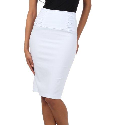 taille Taille Blanc from serre choix Effet Au retrouss haute la 6 Couleurs droite Jupe qOCAxwIC