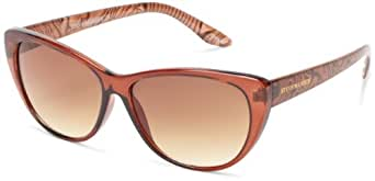 Steve Madden S5295 Cat Eye Sunglasses,Brown,58 mm