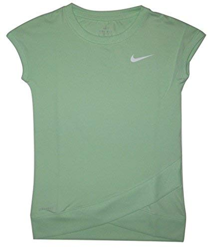(Nike Dri-FIT Little Girls Crossover T-Shirt, Fresh Mint, Size 5)