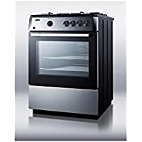 Summit PRO24G Kitchen Cooking Range, Stainless-Steel/Black
