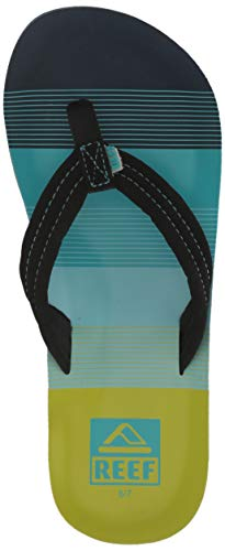 Reef Unisex AHI Sandal, Aqua/Green, 13-1 Medium US Little ()
