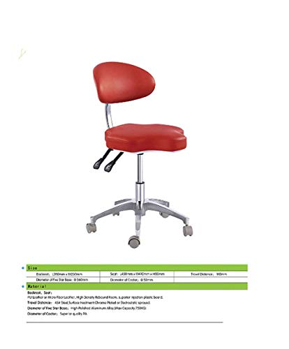 SoHome Portable Doctor's Stool Polygon Shape Dentist Chair Micro Fiber Leather Mobile Chair Height Adjustment by SoHome (Image #3)