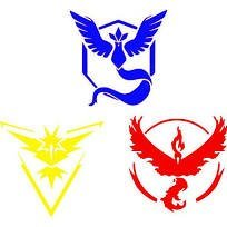 Team Valor, Mystic and Instinct Vinyl Decals Stickers (THREE PACK!!!)|Cars Trucks Vans Walls Laptops|Red Yellow Blue|3-5.5 In Decals|KCD636