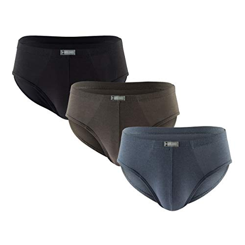 Men's Bamboo Underwear Soft Lightweight Low Rise Briefs 3 Pack (Solid Color 3pk, XL)