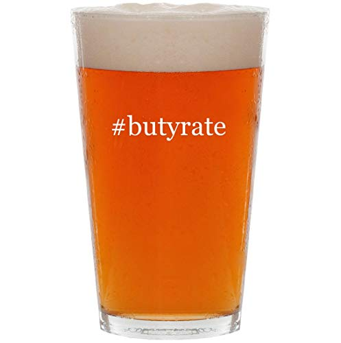 #butyrate - 16oz Hashtag Pint Beer Glass