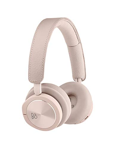 Bang & Olufsen Beoplay H8i Wireless Bluetooth On-Ear Headphones with Active Noise Cancellation, Transparency Mode and Microphone – Pink