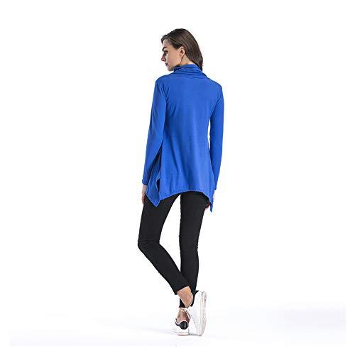 A Lunghe Shopping Nuove Irregolari Maniche Magliette Go Easy Blue xOYTwqIT