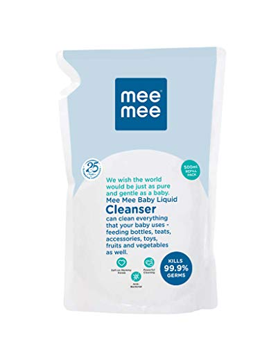 Mee Mee Anti-Bacterial Baby Liquid Cleanser (500 ml – Refill Pack)