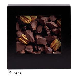 Six Corner Auto Bottom Candy Box - Black - Case of 250