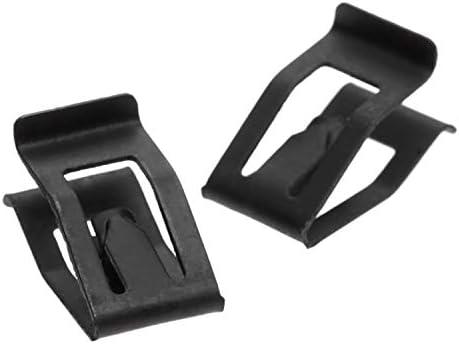 Size : 10PCS 10pcs Console Avant Voiture Universel Dash Dashboard Auto Trim Retenue Black Metal Rivet Clip Fastener for Ford Mazda Audi Toyota