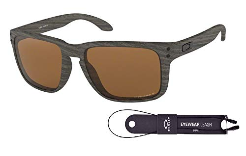 Oakley Holbrook XL OO9417 941706 59M Woodgrain/Prizm Tungsten Polarized Sunglasses For Men+BUNDLE with Oakley Accessory Leash ()