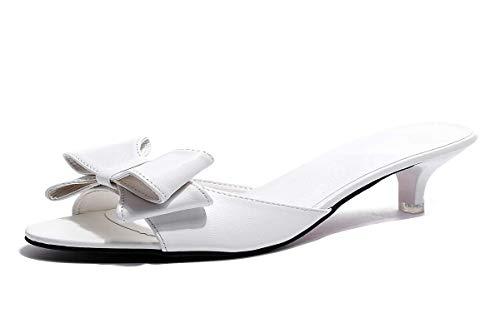 Senza white Pesce Gatti Con Forte da donna La Moda Bocca Pantofole Di Trascinare Di Scarpe Arco Estiva HBDLH E qxUawfRZ