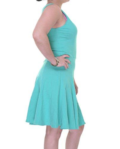 Womens III Green Bar Ponte Dress Sleeveless Skater XL 5Bxq88Uw