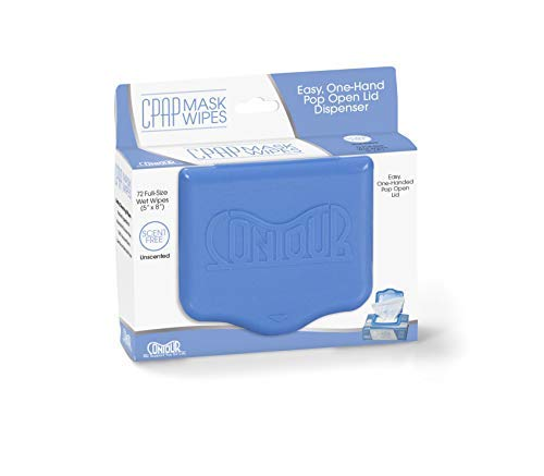 Contour Cpap Mask Cleaning Wipes Easy Dispenser Unscented 72 Wipes (Best Way To Clean Cpap Mask)